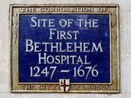 Bethlem Hospital history sign